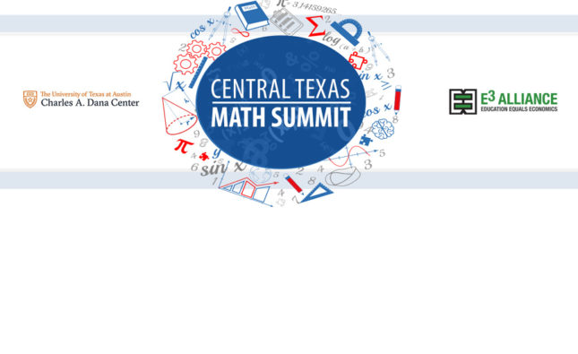 Central Texas Math Summit, November 1, 2019