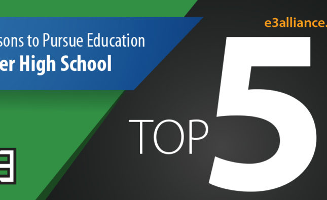 Top 5 Reasons to Get a Postsecondary Credential