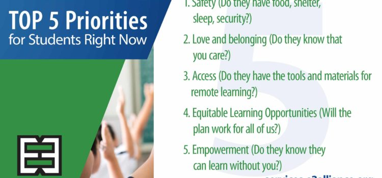 Top 5 Priorities for Students Right Now