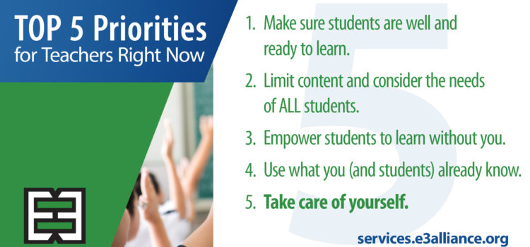 Top 5 Priorities for Teachers Right Now