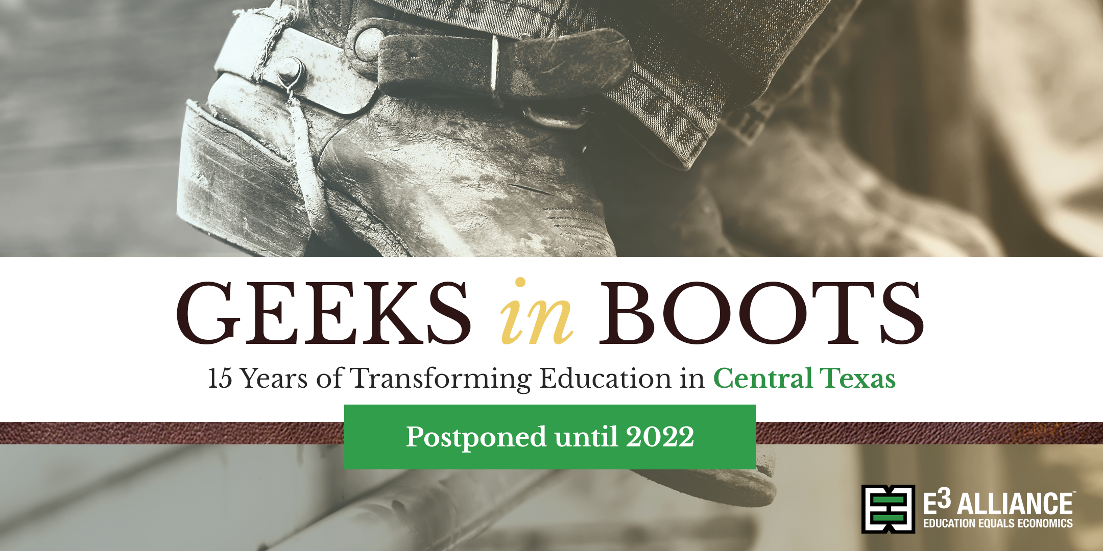 Geeks in Boots Postponed until 2022